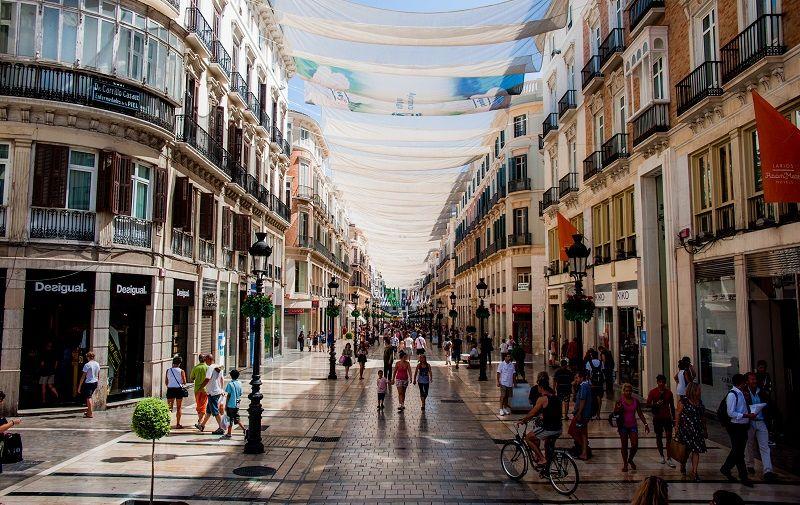 Calle Marqués de Larios Street shopping in Malaga